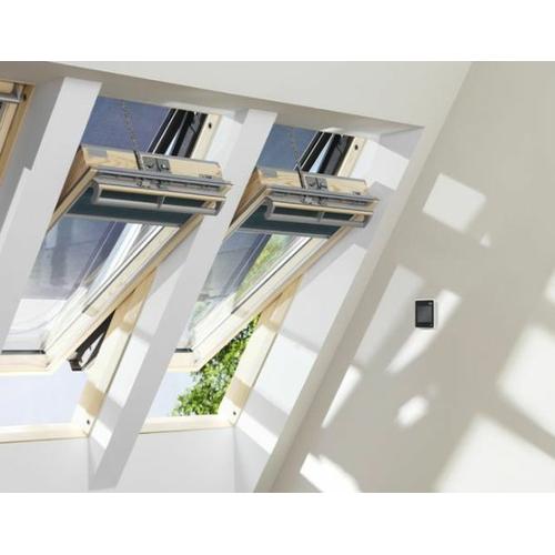 velux integra elektrofenster ggl uk04 134x98 aluminium 3. Black Bedroom Furniture Sets. Home Design Ideas
