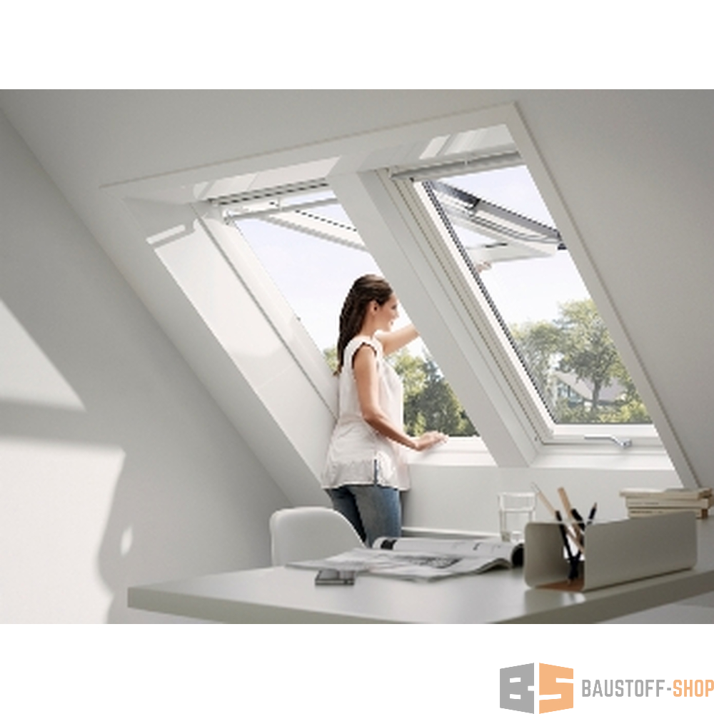 velux klapp schwingfenster gpu ck04 55x98 aluminium 2 fach vergl. Black Bedroom Furniture Sets. Home Design Ideas